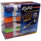 Expo Dry Erase Markers, Assorted Colors, Pack of 18