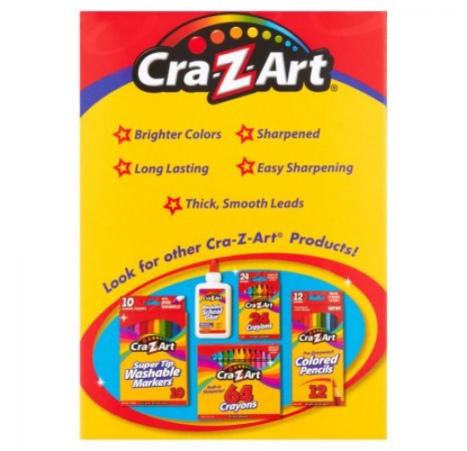 Cra-Z-Art Colored School Pencils, Real Wood - 24 Count