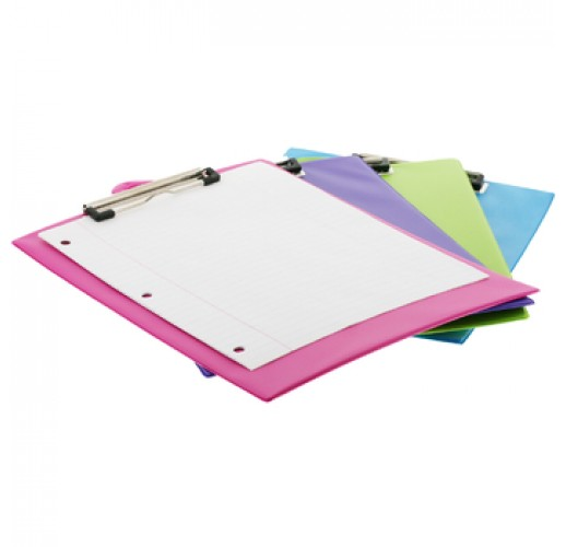 BAZIC Bright Color PVC Standard Clipboard w/ Low Profile Clip