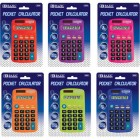 Bazic 8-Digit Dual Power Pocket Size Calculator