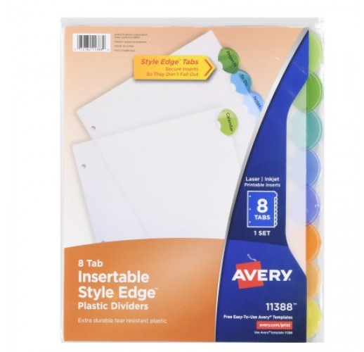 Avery 8 Tab Style Edge Divider BTS