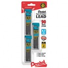 Pentel® Super Hi-Polymer® Leads, 0.7 mm, Medium, HB, 30 Leads Per Tube, Pack Of 3 Tubes