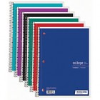 """Just Basics® Spiral Notebook, 7 1/2"""" x 10 1/2"""", 1 Subject, College Ruled, 70 Sheets, Assorted Colors"""
