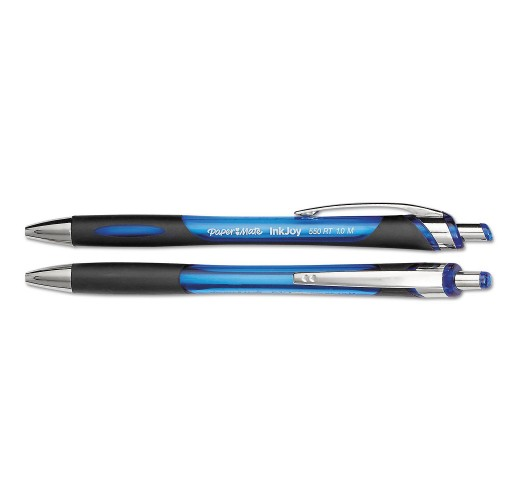 InkJoy 550 RT Retractable Ballpoint Pen, Medium Point, 1mm, Blue, 12ct.