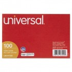 Universal Unruled Index Cards, 4 x 6, White, 100/Count
