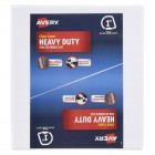 "Avery(R) Heavy-Duty Binder, 1"" One Touch Rings, 250-Sheet Capacity, DuraHinge(TM), White, 79138"