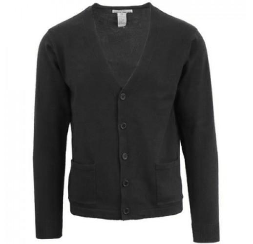 Children's Black V-Neck Cardigan Sweater - Sizes 8-20